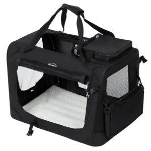 Auch als Schlafplatz geeignet: die faltbare Transportbox